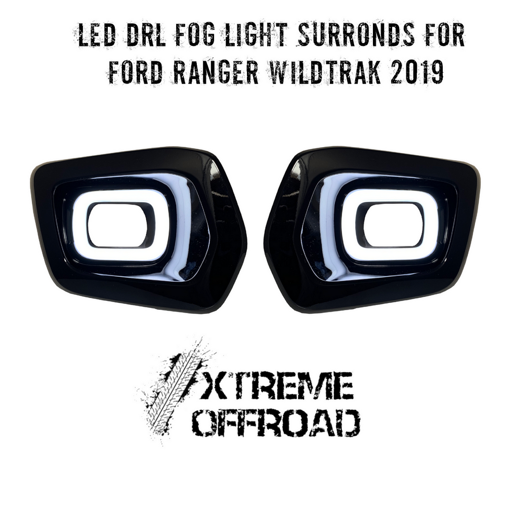 Front LED Fog DRL Surronds with Indicator for Ford Ranger T6 MK3 Wildtrak 2019+