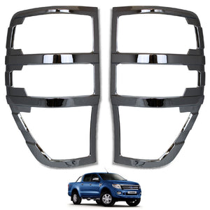 Load image into Gallery viewer, CHROME Rear Tail Light Cover Trims for Ford Ranger T6 Raptor 2012-2015
