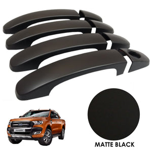 MATTE BLACK Door Handle Covers for Ford Ranger T6 2016+