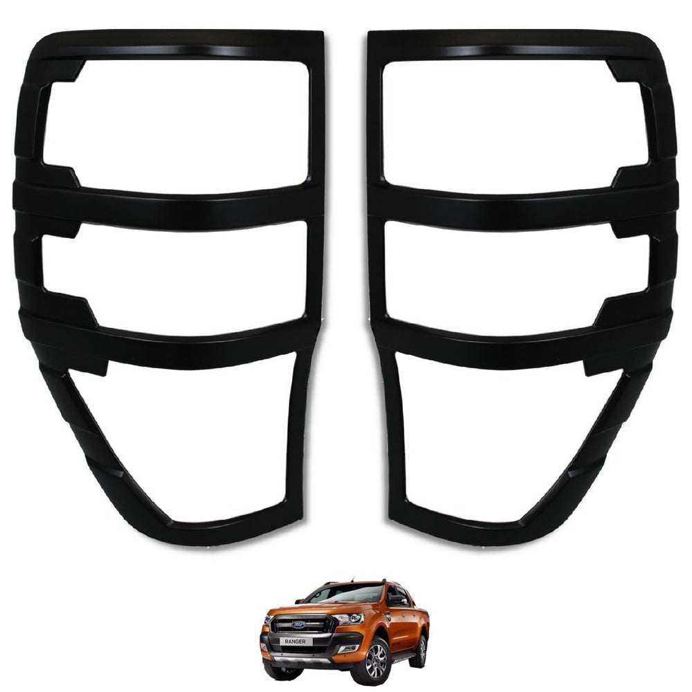 Load image into Gallery viewer, MATTE BLACK Rear Tail Light Cover Trims for Ford Ranger T6 Facelift Raptor 2016+