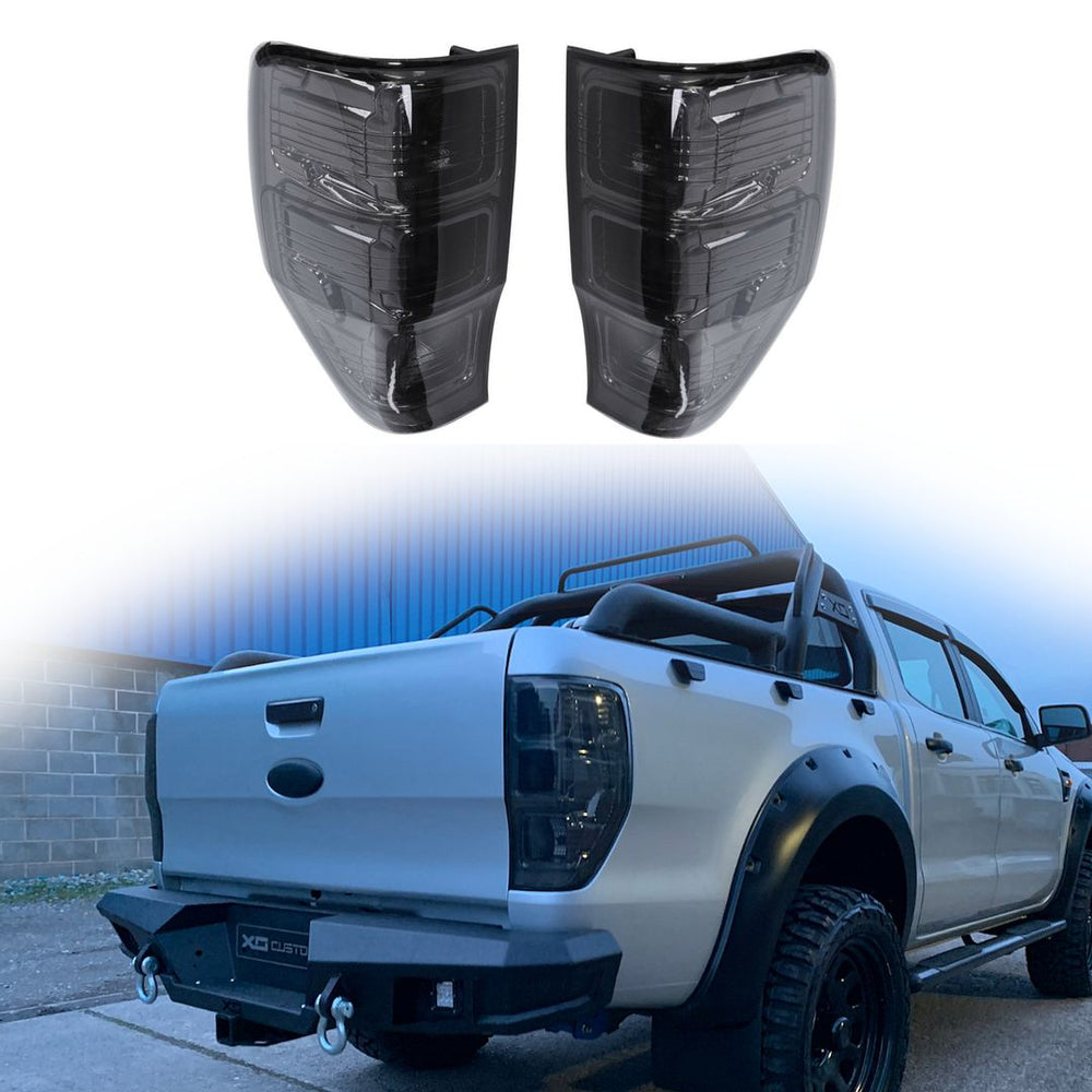 Smoked Tail Lights for Ford Ranger T6 12-15 Raptor  - UK Spec with Fog & Reverse