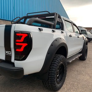 SMOKED XO LED Rear Tail Lights for Ford Ranger T6 2019+