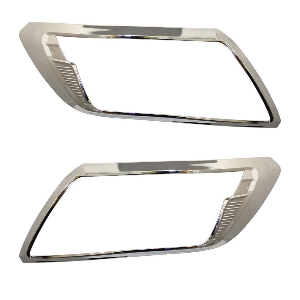 CHROME Front Headlight Brow Cover Guard Trims for Nissan Navara NP300