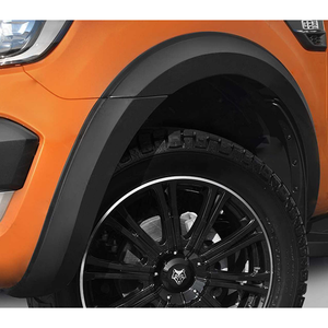 PANTHER BLACK Type-S Wheel Arch / Fender Flares - Ford Ranger T6 PX2 2016-2019