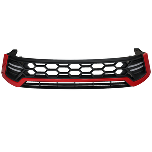 Matte Black/Red Trim Grille with DRL's for Toyota Hilux 2015+