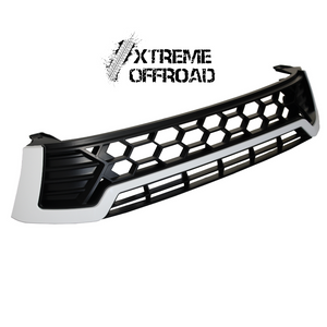 Black Grille With White Trim for Toyota Hilux 2015+