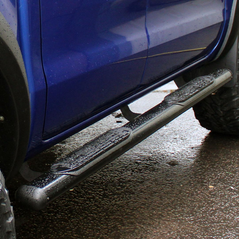 4'' Oval Black Side Steps /  Bars for Ford Ranger T6 Fits All Models From 2012+