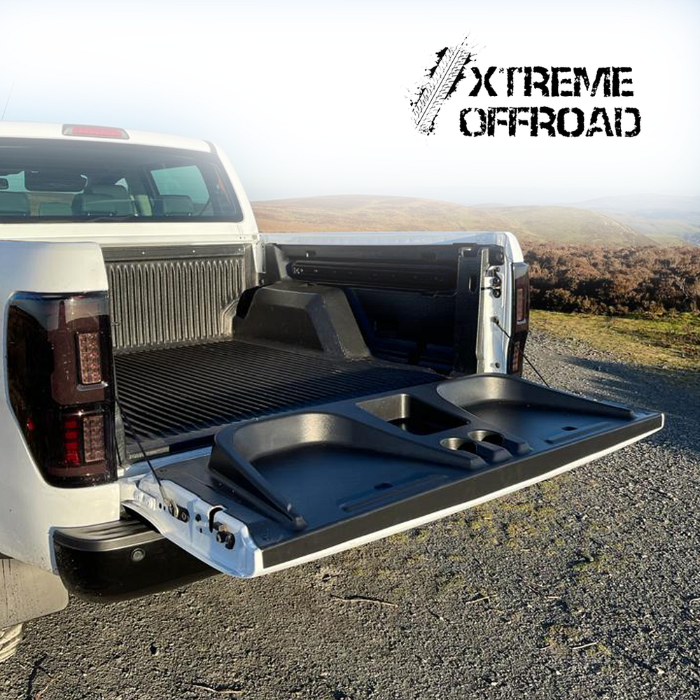 Tailgate Seat with Cup Holders for Ford Ranger T6 2012-2015 PX1