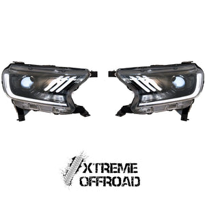 XO Dual LED Mustang Style Headlight Upgrade For Ford Ranger T6 2016+
