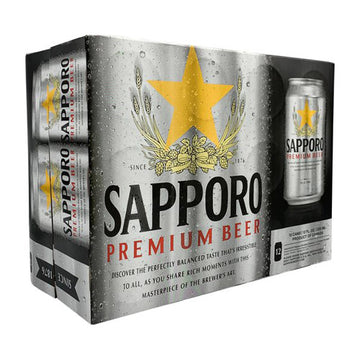 Sapporo Beer Can 355Ml 12Pk