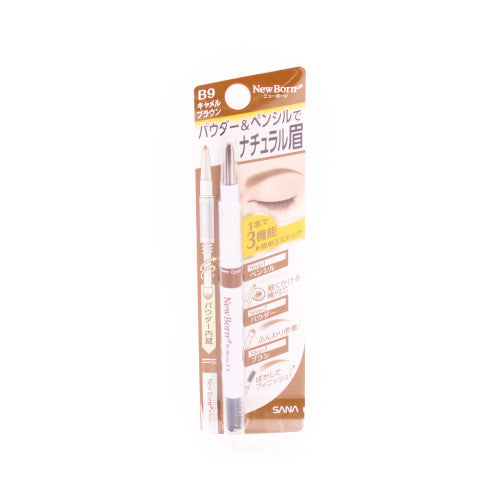 Eyebrow Powder&Pencil Camel Brown New Born Sana