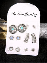 Load image into Gallery viewer, Silver Alloy Vintage Earrings Set