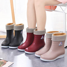 Load image into Gallery viewer, PVC All Season Flat Heel Rain Boots