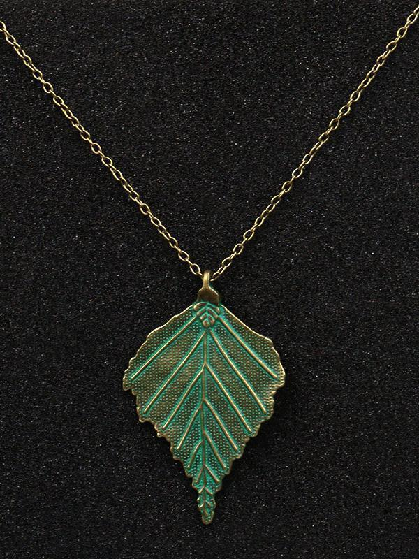 Green Casual Alloy Necklaces