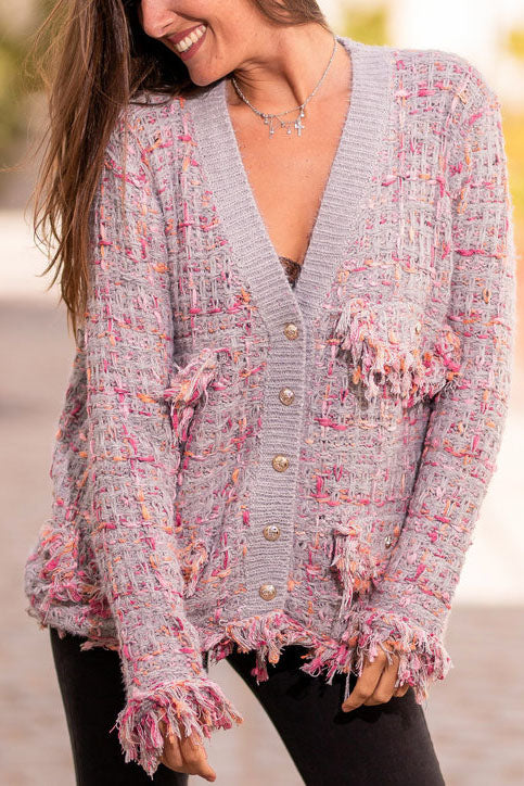 Xiaoxiangfen knitted cardigan