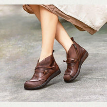 Load image into Gallery viewer, Flat Heel Spring Casual Leather Boots