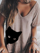 Load image into Gallery viewer, Women Summer V neck Loose T Shirt Tops