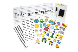 Whiteboard and Sticker Accessories for the Remote Learning Cubby