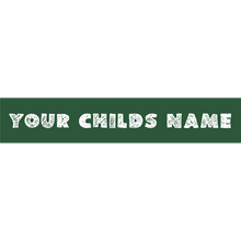 Load image into Gallery viewer, Preview of sticker with your child's name.
