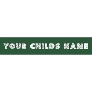 Preview of sticker with your child's name.