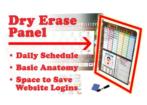 Dry Erase Scheduling Panel on ESL Remote Learning Cubby