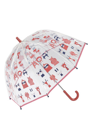 Animal Wonderland Kids umbrella Clear Cute umbrella pink