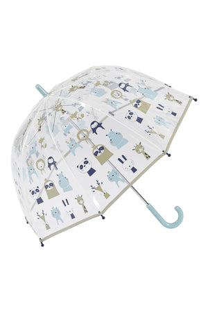 Animal Wonderland Kids umbrella Clear Cute umbrella blue