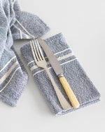 Contemporary Napkin with Variegated Stripes