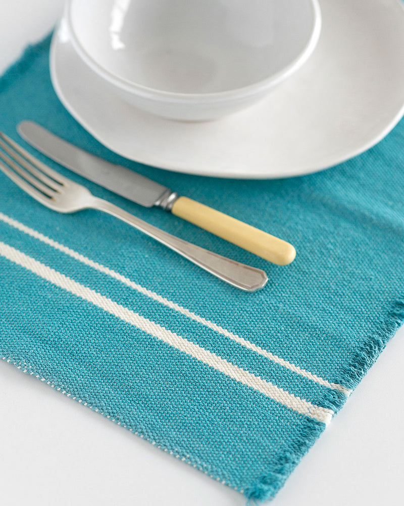 Contemporary Placemats with Stripes on Ends