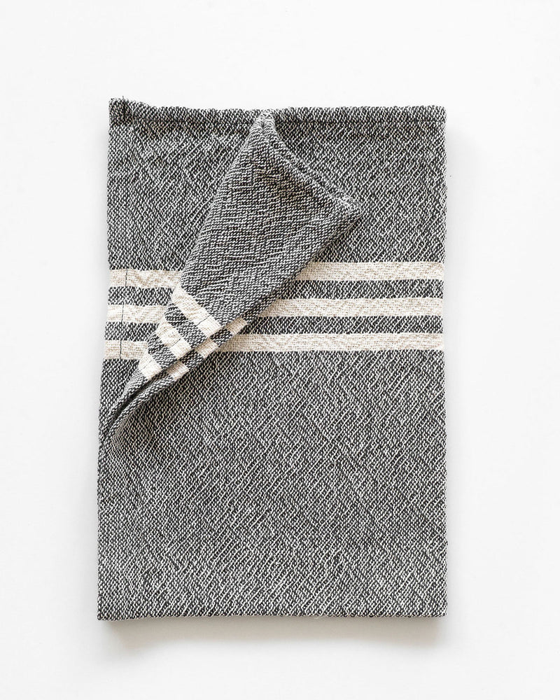 Small Contemporary Towel with Stripes on Ends