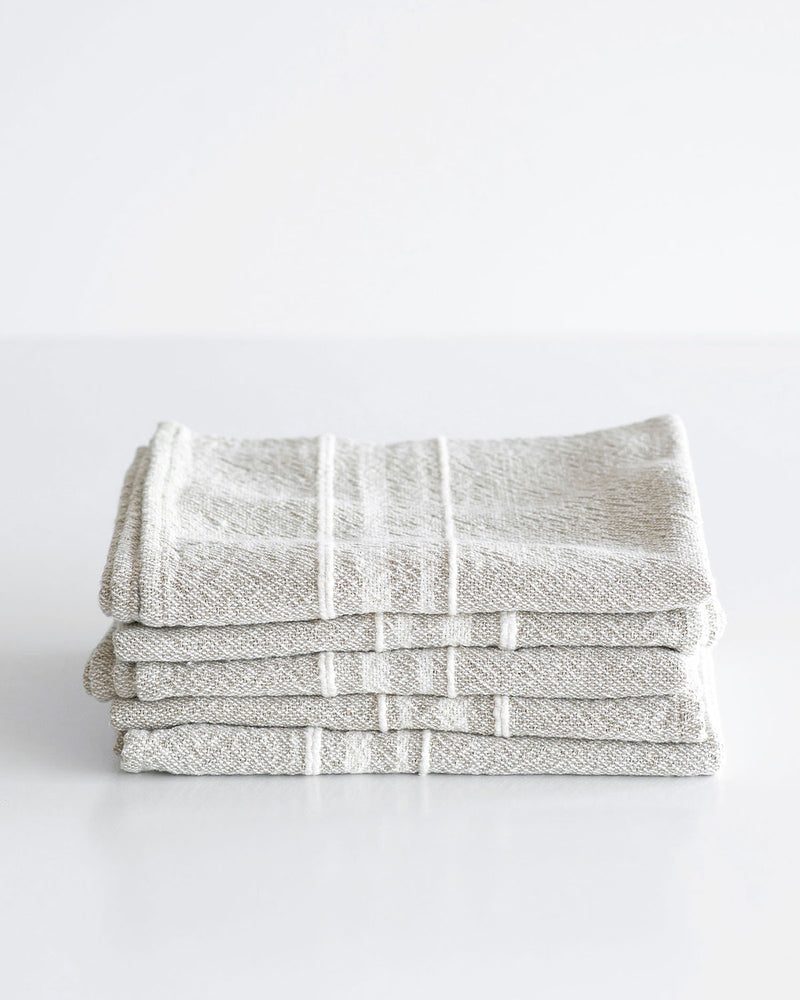 Small Contemporary Towel with Variegated Stripes