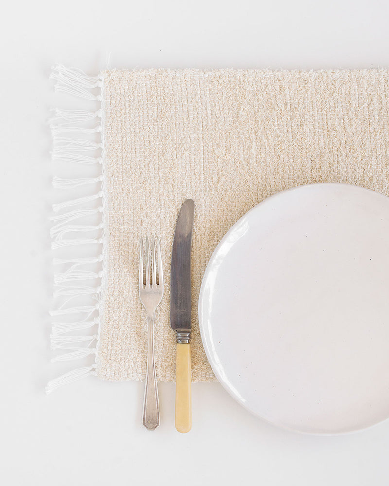 Thick Weave Placemats - Natural