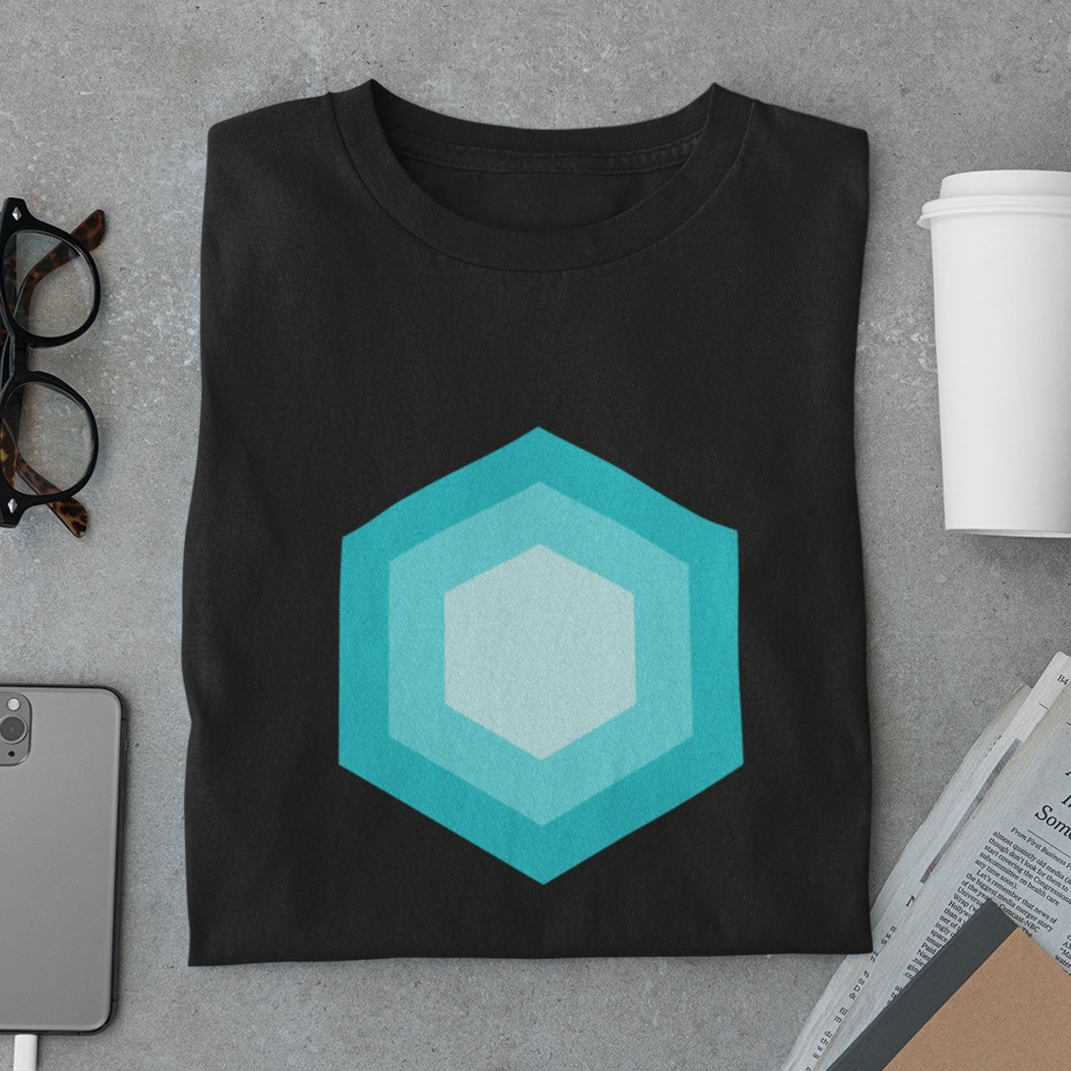 Hexagon Shapes Men's T-Shirt