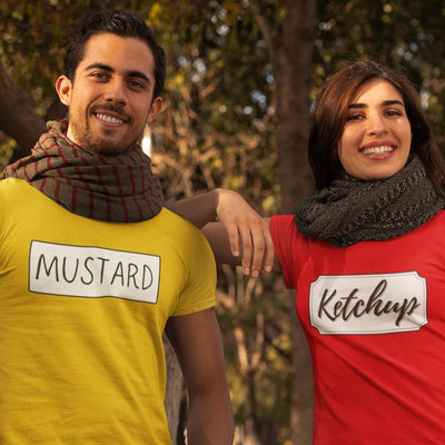 Mustard Ketchup Couple T-Shirts
