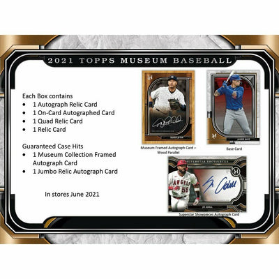 2021 Topps Museum Collection Baseball Hobby Box (Presell) 06/16
