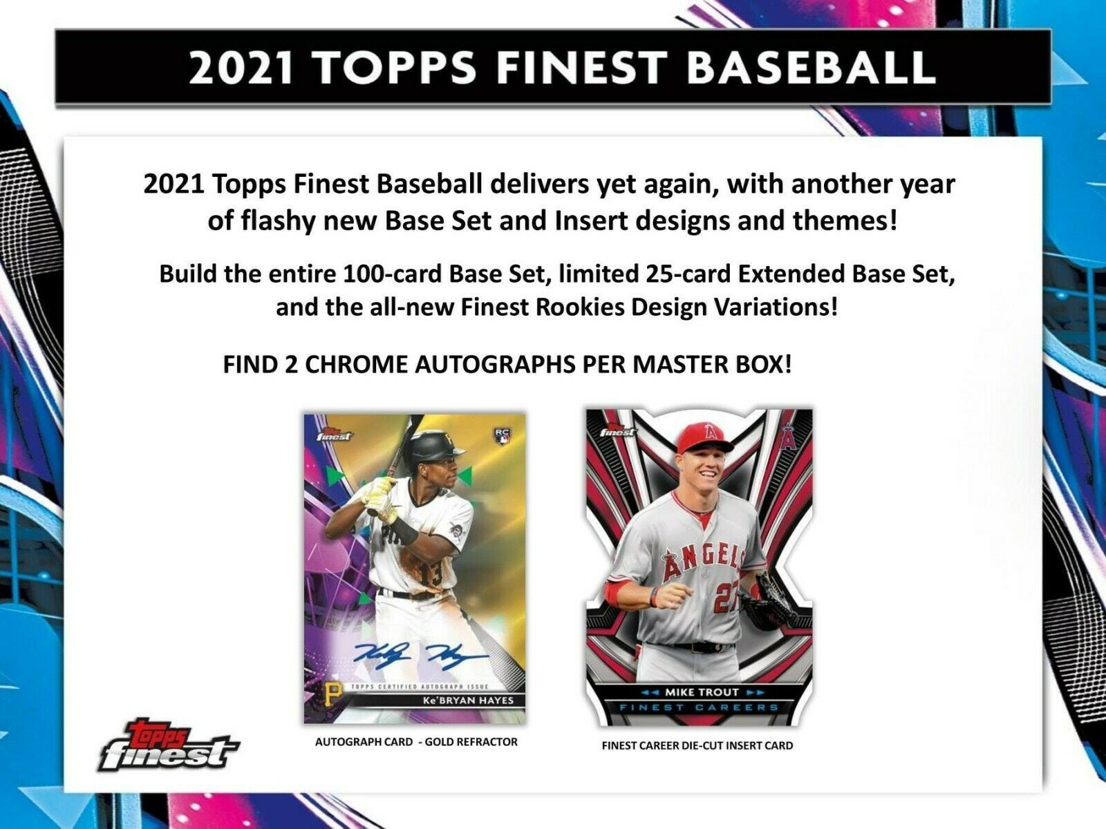 2021 Topps Finest Baseball Hobby 8-Box Case (Presell) 06/04