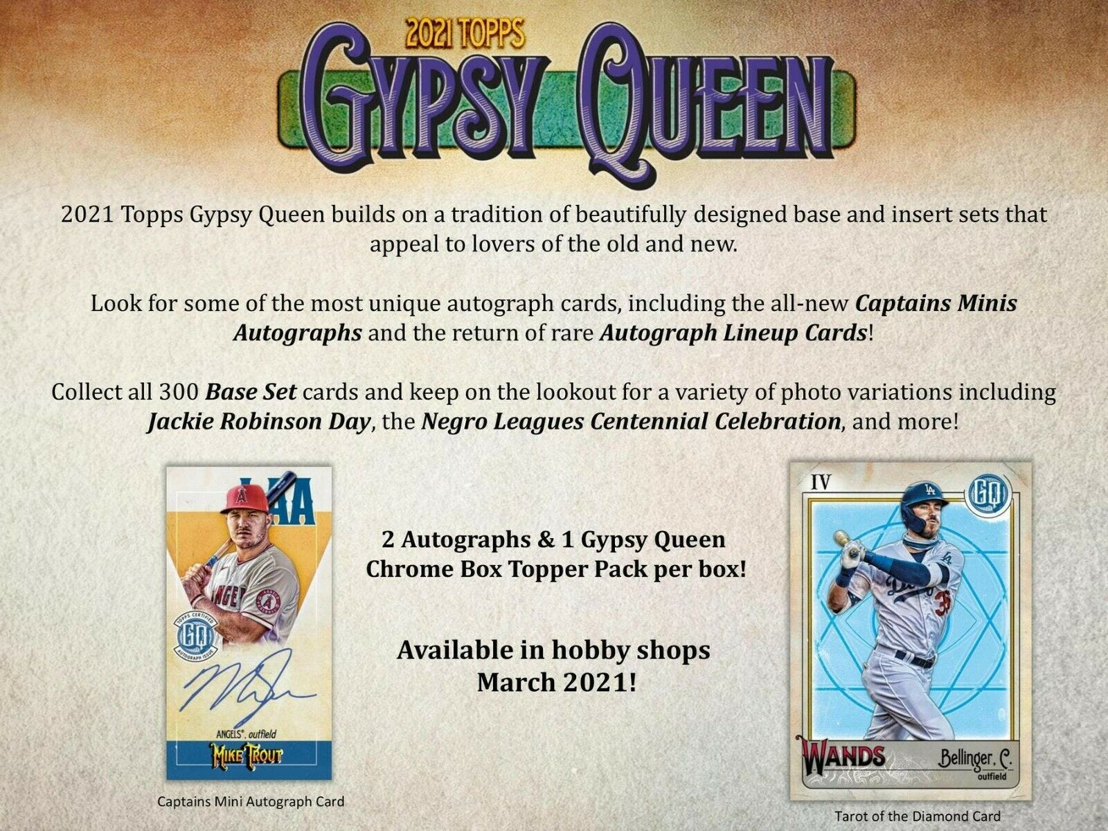 2021 Topps Gypsy Queen Baseball Hobby 10-Box Case (Presell) 07/28