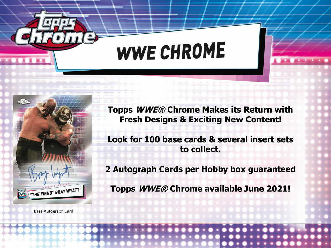 2021 Topps WWE Chrome Hobby Box PreOrder 06/16