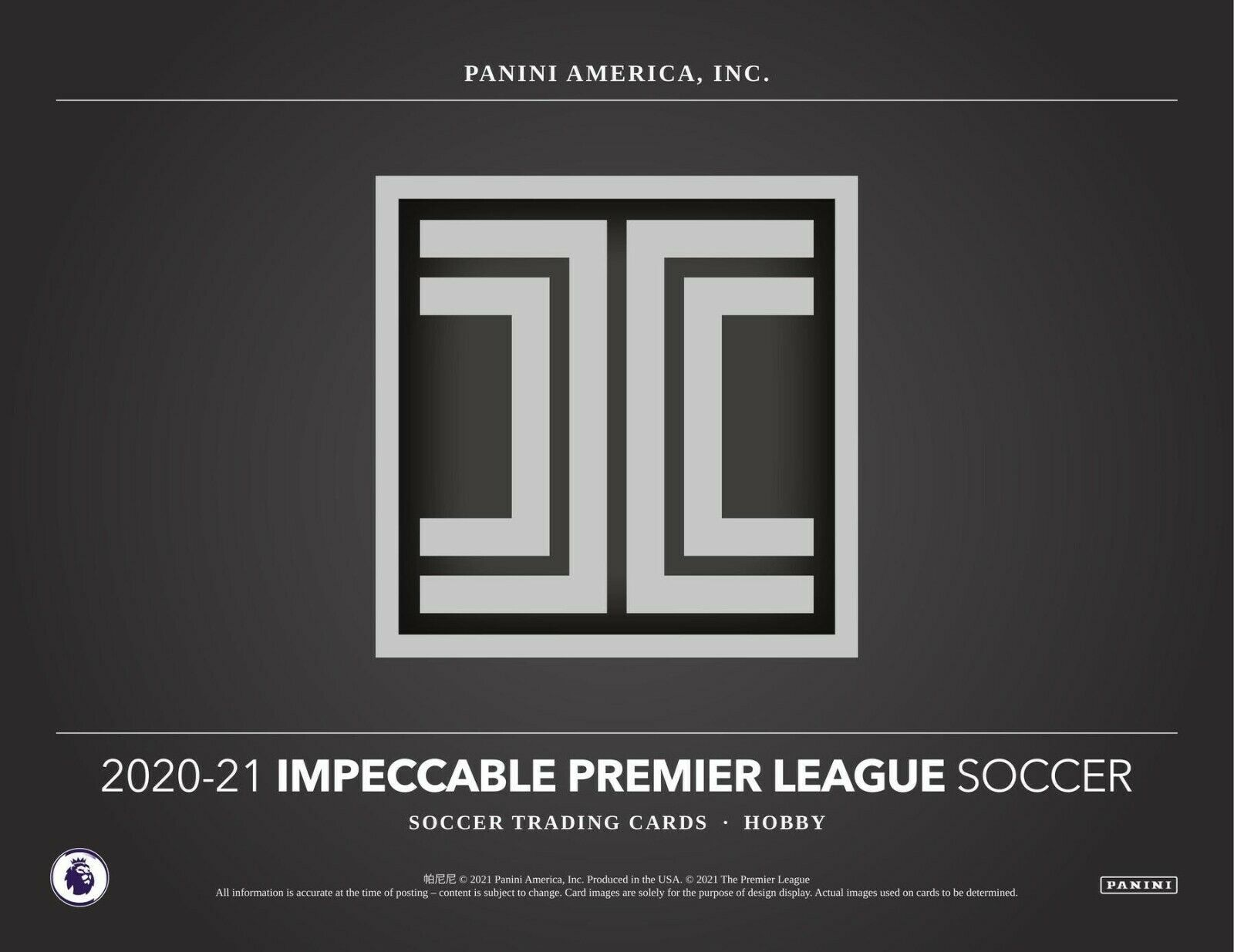 2020/21 Panini Impeccable Soccer Hobby Box (Presell) Releases 05/07 (PreOrder)