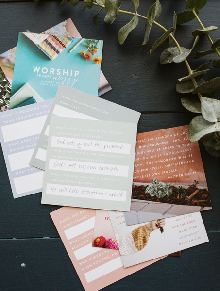 Worship Trumps Worry Verse Cards