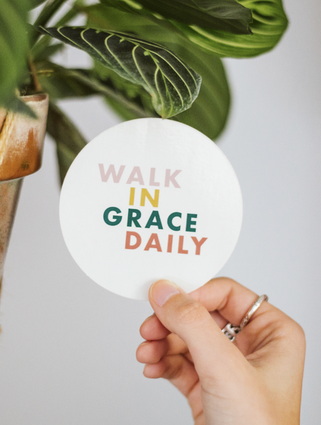 Walk in Grace Daily Sticker