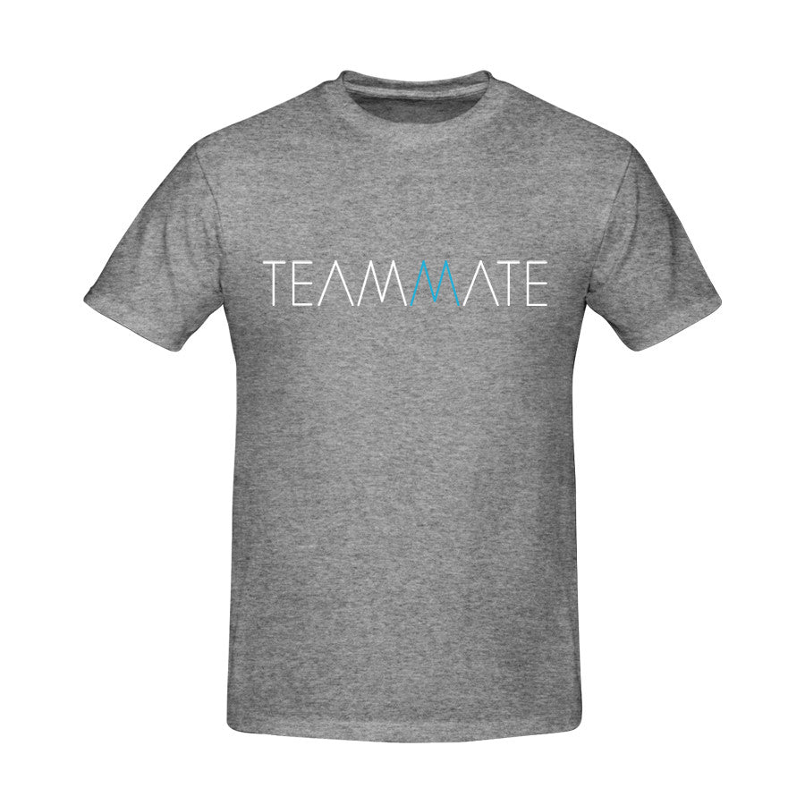 TeamMate Logo Tee in Heather Gray