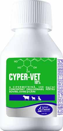Cyper-Vet Cypermethrin 10% for cattle, sheep, goats and dogs - Pet Shop Luna SRL