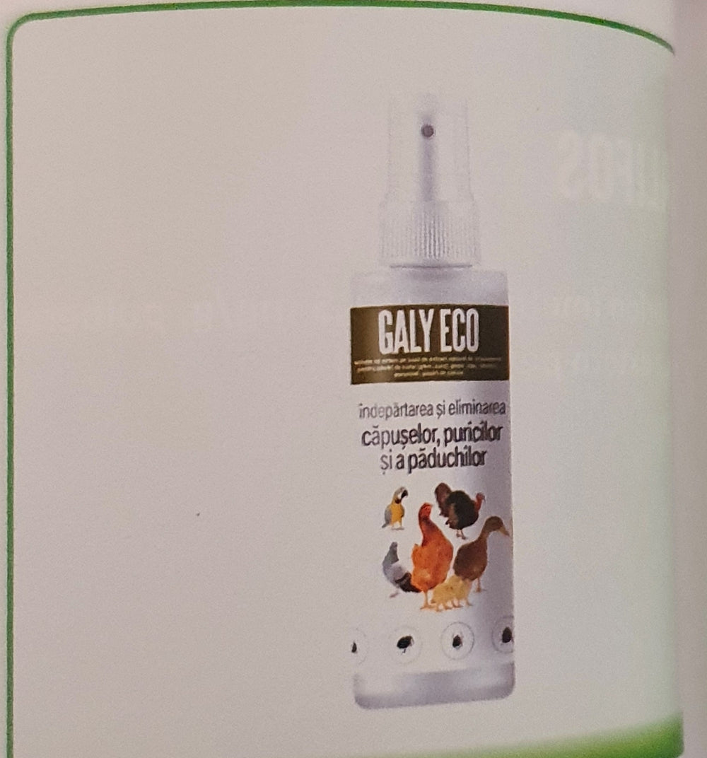 GALY ECO 100ML SOLUTION FOR EXTERNAL USE FOR ALL BIRDS - Pet Shop Luna SRL