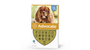 ADVOCATE 3 doses for cats and dogs dewormer antiparasitic / Antiparassitario/ vermifugo per cani e gatti 3 pipette - Pet Shop Luna SRL