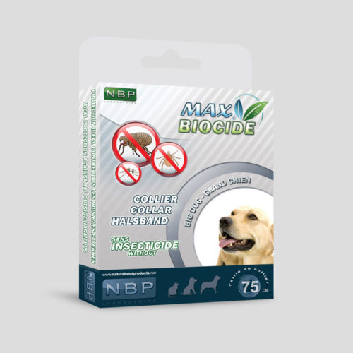 MAX BIOCIDE Collar 75 cm for Dogs Large Breed against Flea/Tick/Mosquitoes 4 Months Protection / Collare antiparassitario per cani - Pet Shop Luna SRL