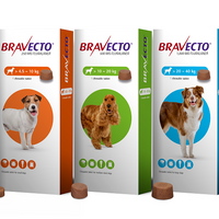 Bravecto Chews for Dogs 3 weeks protection External Antiparassitic / Compresse Masticabili per Cani < 1 tablet > - Pet Shop Luna SRL