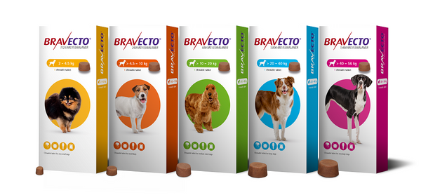 Bravecto Chews for Dogs 12 weeks protection External Antiparassitic / Compresse Masticabili per Cani < 1 tablet > - Pet Shop Luna SRL