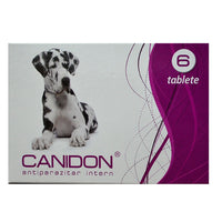 Canidon ORAL DEWORMER for dogs 2x 6 tablets / VERMIFUGO PER CANI Same as DRONTAL - Pet Shop Luna SRL