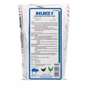 HELMIX F 100g Flubendazole 5% dewormer antihelmitic antiparasitic for swine and poultry/birds / vermifugo per suini e pollame - Pet Shop Luna SRL